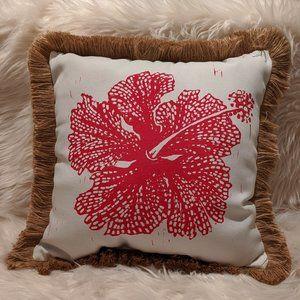 Brentwood Boho Indoor Outdoor Hibiscus Pillow